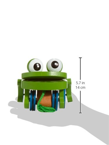 Melissa & Doug Deluxe Frolicking Frog Wooden Pull Toy