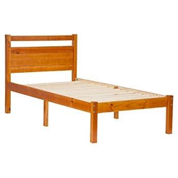 100 solid wood bronx twin bedinabox by palace imports honey pine color 415u201dw x 395u201dh x 79u201dl 12 slats included optional drawers safety rail guard