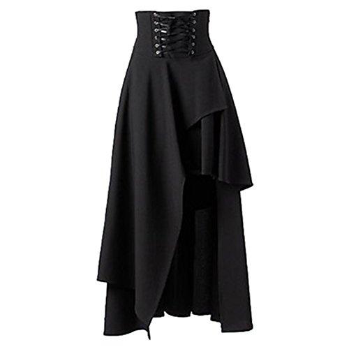 あたり自己包帯Women's Solid Color Elegant Gothic Lolita Band Steampunk Vintage Style Waist Skirt