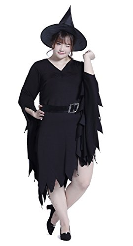 Halloween Cosplay Japan Costumes [Plus Size] Anime Big Uniforms (5X, Witch)