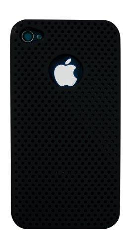Ideus housepinip4bk Schutzhülle Sport mit Löchern für Apple iPhone 4, Schwarz