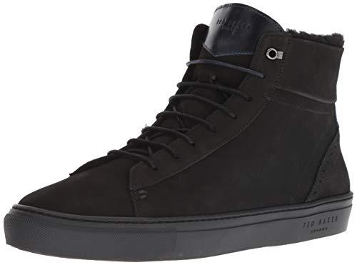 (Ted Baker Men's THONEL Sneaker, Black Nubuck, 7 Medium US)