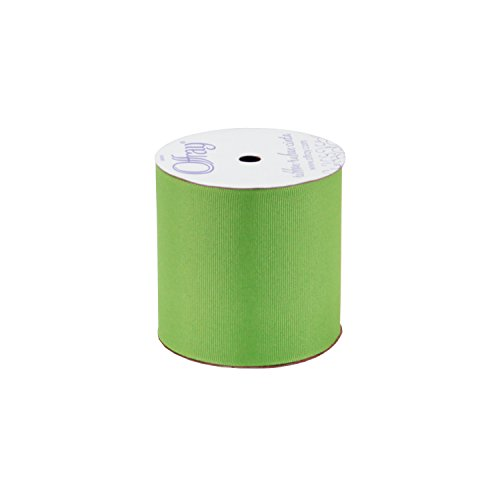 Offray Berwick, 3-Inch by 9-Feet, Apple Green Grosgrain Fabric Ribbon,