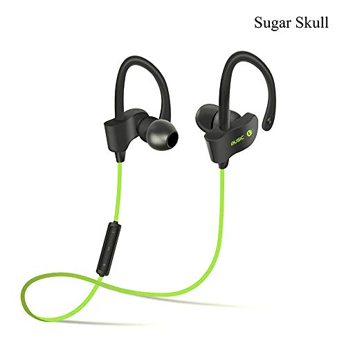 Wireless Bluetooth Headphones Headset Neckband Comfortable and Noise Canceling Sweat Proof Earphone for Running & Gym Compatible Samsung iPad or Bluetooth Devices - Yellow