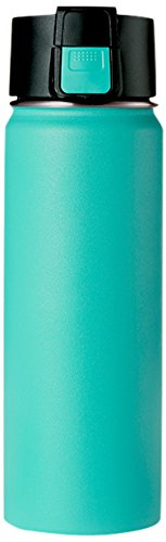 Double wall Vacuum Insulated Stainless Steel Wide Mouth Sports Water Bottle, Leak Proof Coffee Travel Mug with Flip Lid - 600ml,20oz -Blue (Vacuum 600 Bottle)