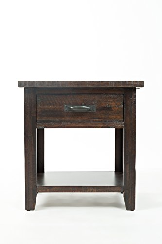 """Jofran: 1605-90, Jackson Lodge, Drawer Nightstand, 24""""W X 16""""D X 25""""H, Deep Chocolate Finish, (Set of 1) - Tasteful Distressing and subtle Finish variations should be expected and enjoyed For residential use only Distressed finishes - bedroom-furniture, nightstands, bedroom - 31Bf6bCoPTL -"""