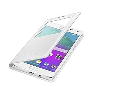 COVERNEW Flip Cover for Samsung Galaxy On7 Pro  Faux Leather,White