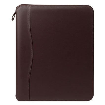 (Monarch FC Basics Spacemaker Vinyl Zipper Binder - Burgundy)
