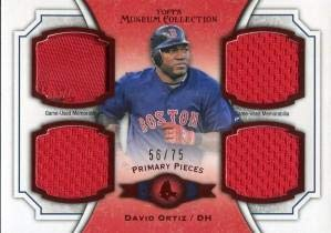 (David Ortiz Unsigned 2013 Topps Museum Collection Jersey Card - Baseball Game Used Cards)