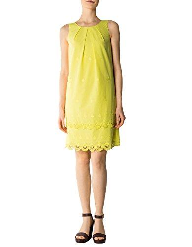 Laurèl Damen Kleid Baum Wolle Dress Unifarben Größe 38 Farbe Gelb ...