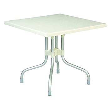 Beautiful Forza White Square Folding Table 31 Inch