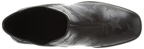 Delany de con Fix The para Mujer Print Leather Bloque Botines Chelsea Star Black tacón 1w6nTq