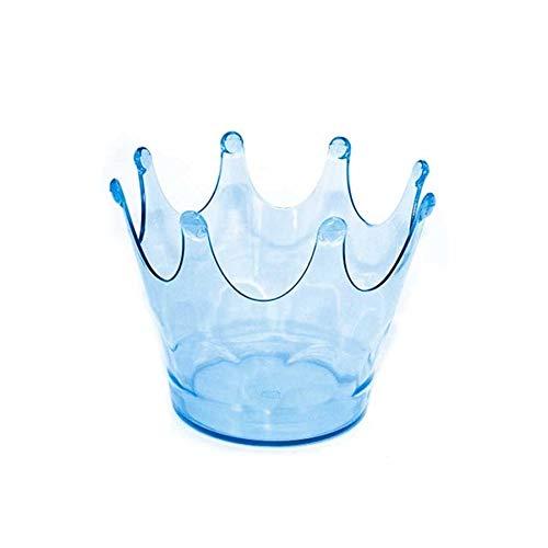 Kit 36 Cachepot Coroa Acrílica Azul