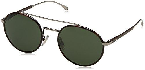 Men's Boss Mm Hugo Ruthenium 0874 Black s By Rectangular 57 Sunglasses PEEqBSwx