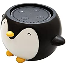 Penguin Holder Stand Mount Compatible with Alexa Echo Dot, Bose, Anker, Home Mini Round Speakers Accessories (Penguin Theme)