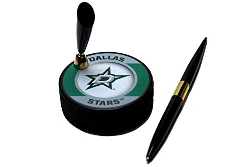 EBINGERS PLACE Dallas Stars Retro Series NHL Hockey Puck Pen Holder