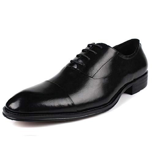 砲兵堤防ピービッシュメンズレザーシューズ結婚式靴ビジネスカジュアルレザーシューズフォーマルシューレース大サイズ牛革シューズ