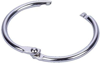 Anillos de acero para encuadernación de níquel, anillo con bisagras de 14-50 mm 19mm / Pack of 100: Amazon.es: Oficina y papelería