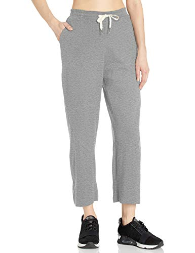 Organic Cotton Yoga Loose Capri Crop Flowy Wide Pant with Pockets from Satva - UTOPIA CULOTTES, HEATHER GREY, Large