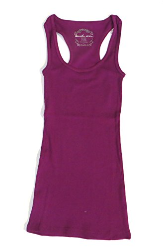 Women's Scoop Neck Ribbed Tank Top Shirt (X-Large, Purple)