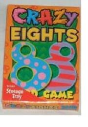 Crazy Eights Card Game with Storage Tray by Classic Games