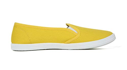 VenusCelia Women's Rainbow Canvas Slip On Sneaker