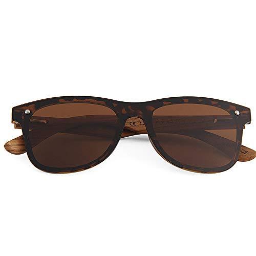 aire sol PC Lente Personalidad libre Retro Madera Piece de Gafas al One Style sol Pierna Ojos Conducción Playa de polarizadas Gafas gato Pesca UV400 Vacaciones Protección Hombres Gafas de Marrón de Marco TAC fFqf6
