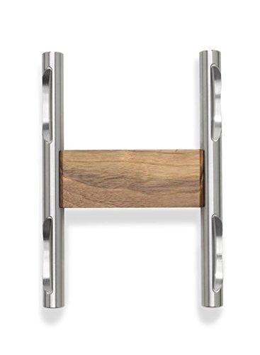 Mancuernas Hock Loft único estante - Cadena de acero inoxidable/nogal mancuernas para tus Fitness. Pesas par fabricado en Alemania.