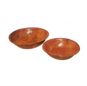 Winco Woven Wood Salad Bowl, 6 inch - 12 per case.