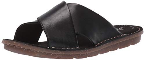 CLARKS Women's Blake Sydney Black Leather 8 B - Black Leather Sydney