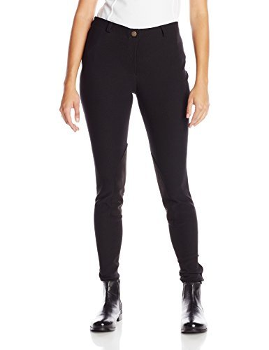 TuffRider Women's Ribb Lowrise Pull-On Breeches, Black, 30