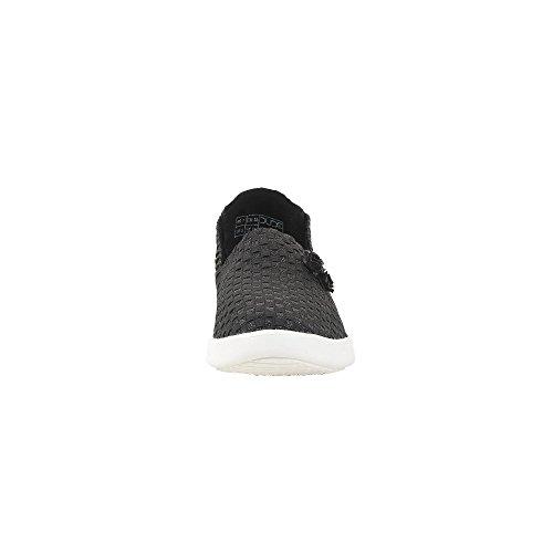 Hey Dude Shoes Women's E-Last Simple Black Glitter Slip On Black GD2JrTs8