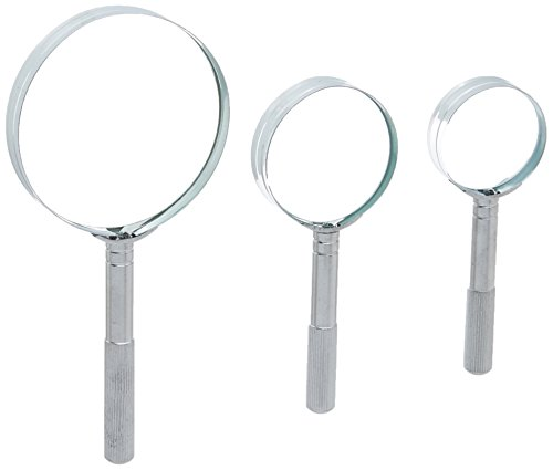 SE MM2020-3 Hand Held Magnifier Set Chrome Plated 1-1/2, 3