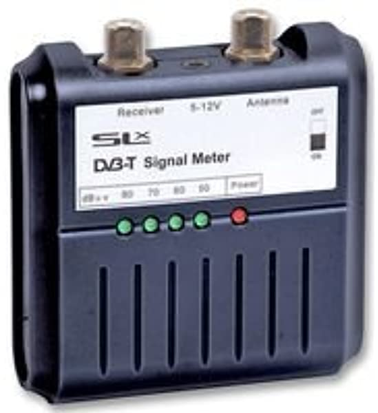 Philex 27867R - Medidor digital de señal de TV (con indicadores LED, 5-12 V), negro: Amazon.es: Electrónica