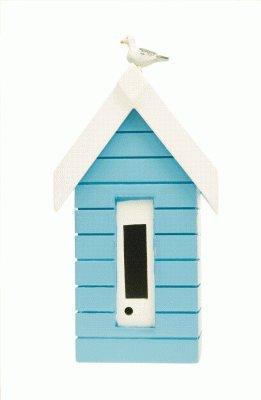 Diseño de caseta de playa medidor de nivel de gasolina - los colores pueden variar - rosa, blanco, azul, azul claro, Azul: Amazon.es: Hogar