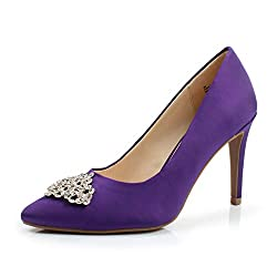 Purple Pointed Toe High Heel Stiletto Shoes