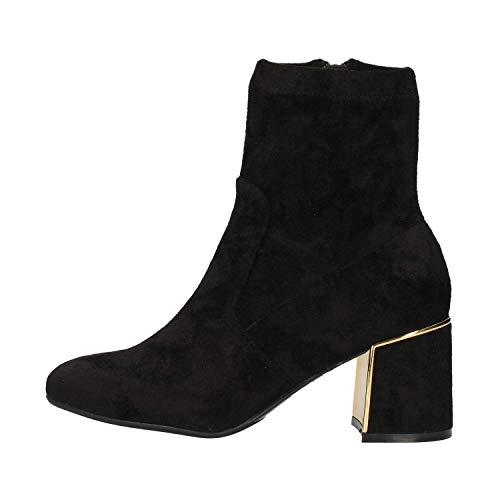 Zip Cheville Femme Noires Boot Bottines Noir Nero Caf Clous Talons Suede La917 qXgSxwW8