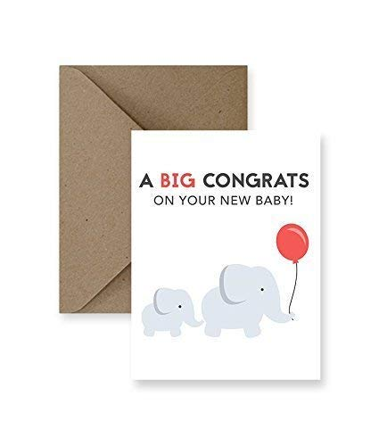 A Big Congrats On Your New Baby Card