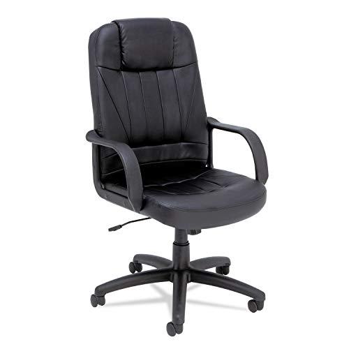 - Alera SP41LS10B Alera Sparis Series Executive High-Back Swivel/Tilt Chair, Leather, Black