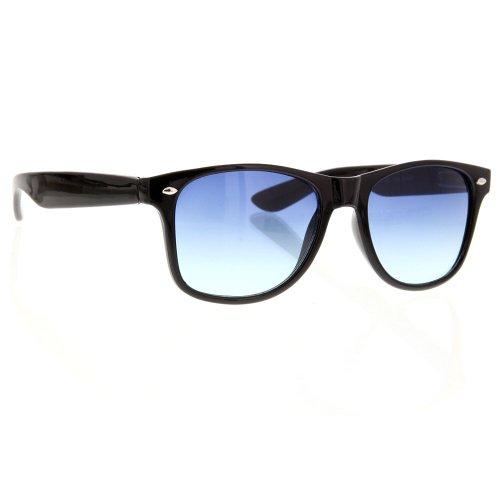 Vintage Wayfarer Sunglasses Color Lens Gradient Classic Retro (Blue Gradient) (Indoor Sunglasses)