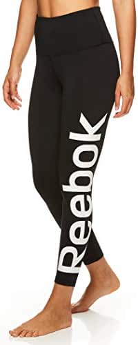 Reebok Women's 7/8 Workout Leggings w/High-Rise Waist - Performance Compression Tights