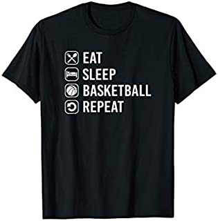 Cool Gift Eat Sleep Basketball Repeat Basketball Player Gift  Women Long Sleeve Funny Shirt
