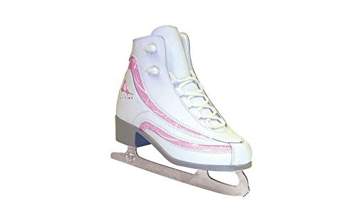 (American Athletic Shoe Girl's Soft Boot Ice Skates, White, 1 (Renewed))