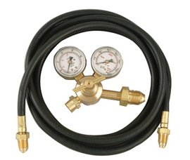 Radnor RAD64003037 Model AF-150-580H Victor Style Single Stage Argon/Argon/Carbon Dioxide Mix Flow gauge Regulator Kit with 10' Hose, CGA-580