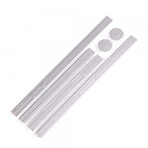 Cell Accessory Stripe Style Edge Sticker for iPhone 5 Silver