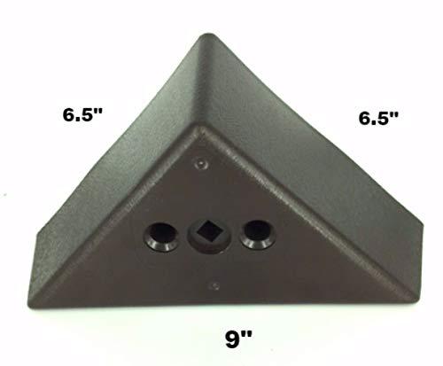 ProFurnitureParts 3'' Tall Triangle Corner Sofa Legs, Brown Color, Set of 4, HDPE Plastic by ProFurnitureParts