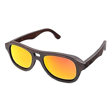 GSSTYJ Gafas de Sol polarizadas, Gafas de bambú Hechas a ...