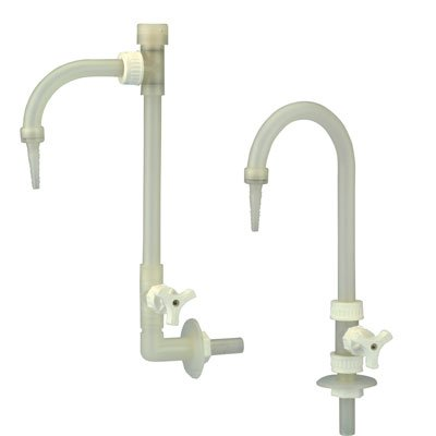 PP Deck Mount Adjustable Neck Goose Neck Faucet (1 Faucet) (Goose Deck)