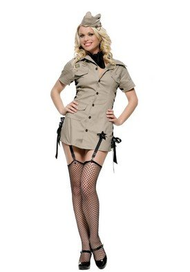Pin Up Army Girl Adult Costume - X-Small - Military Pin Up Girl Costumes