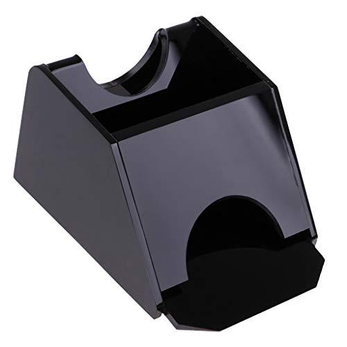 Baoblaze アクリル デッキポーカー ブラックジャック  ディーラー取り扱い 靴カジノ機器 ブラックの商品画像